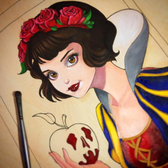 Snow White WIP by chrissie-zullo