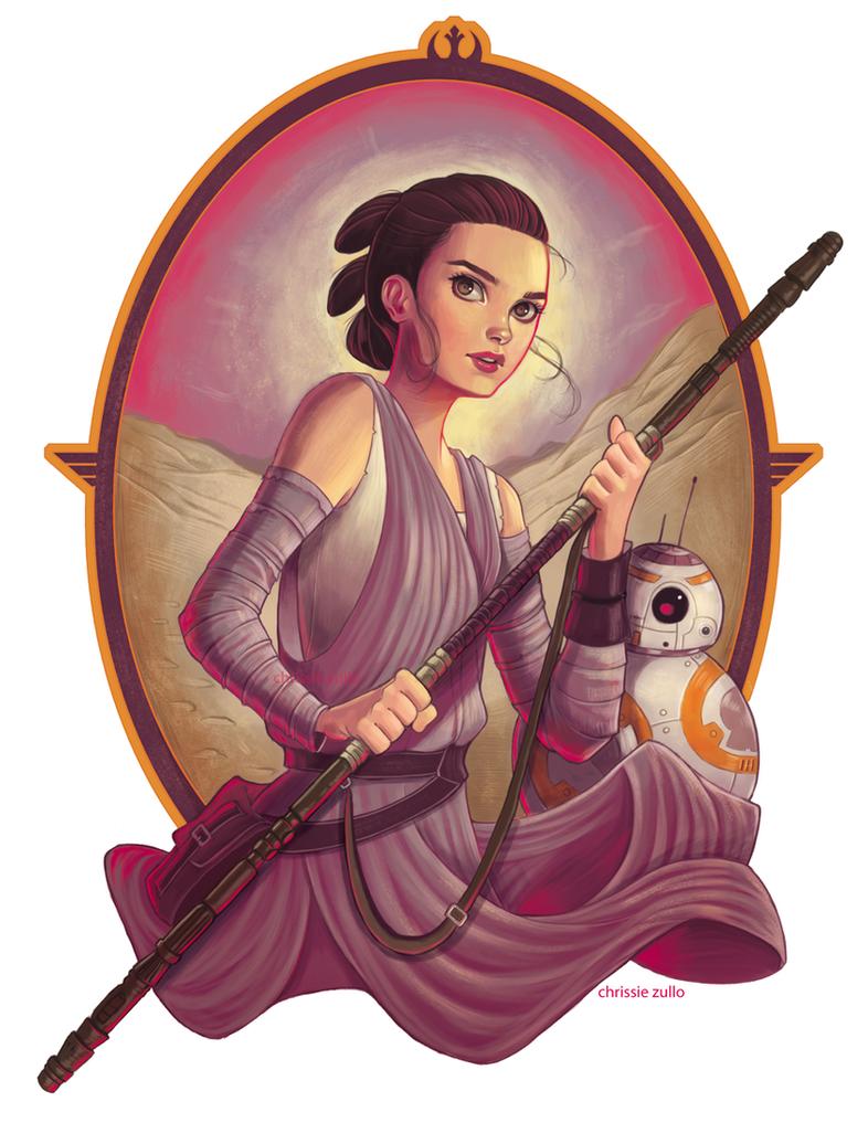 Rey and BB8 by chrissie-zullo