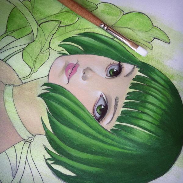 Emerald Green WIP by chrissie-zullo