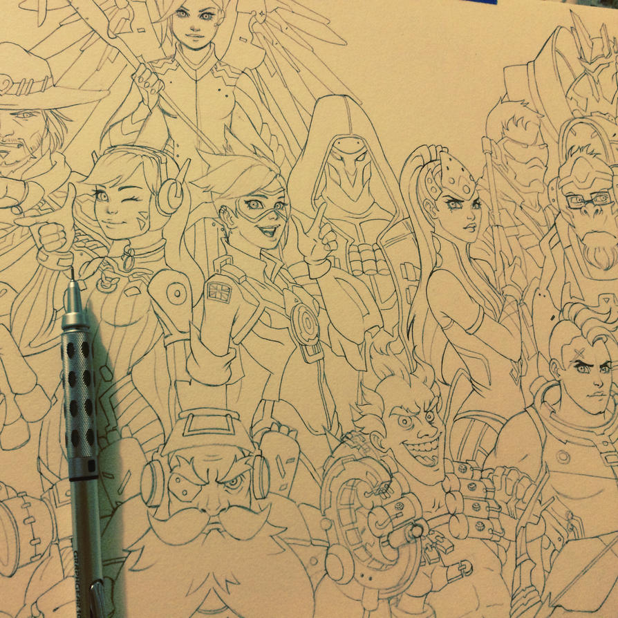 Overwatch WIP by chrissie-zullo