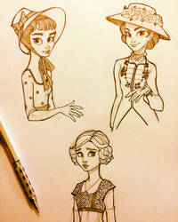 More Costume Sketches by ChrissieZullo