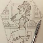 Vampire Girl Sketch