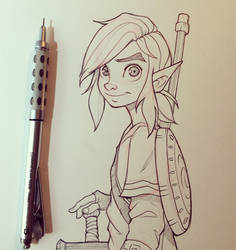 Link from Breath of the Wild Sketch by ChrissieZullo