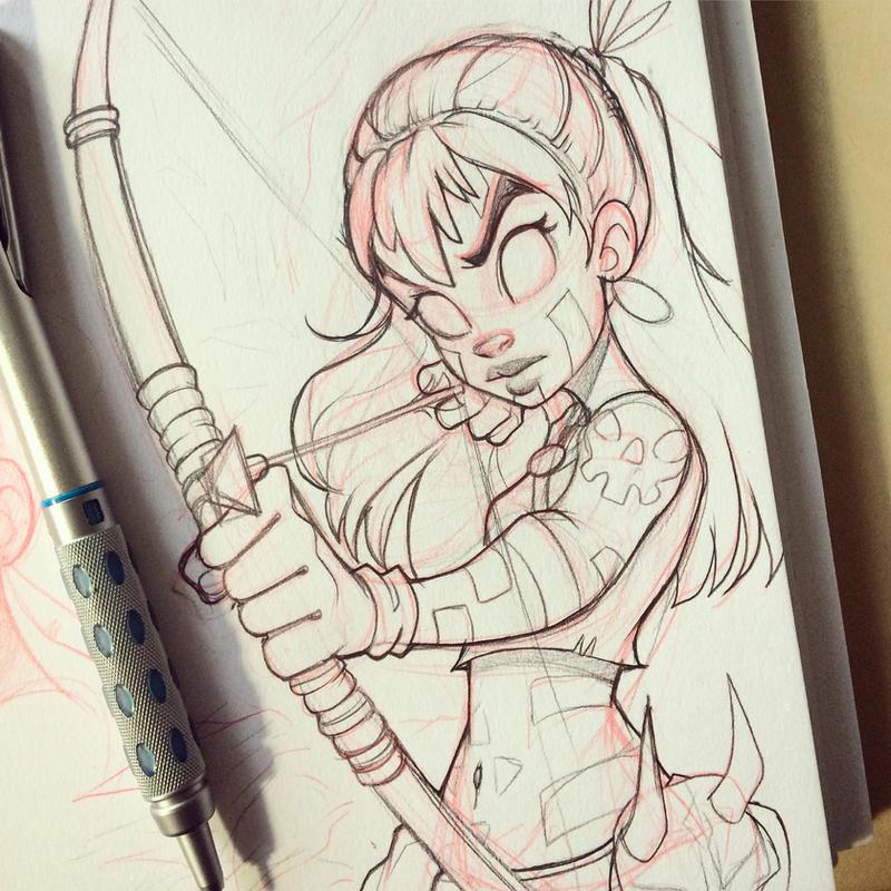Sketchbook Doodle by chrissie-zullo