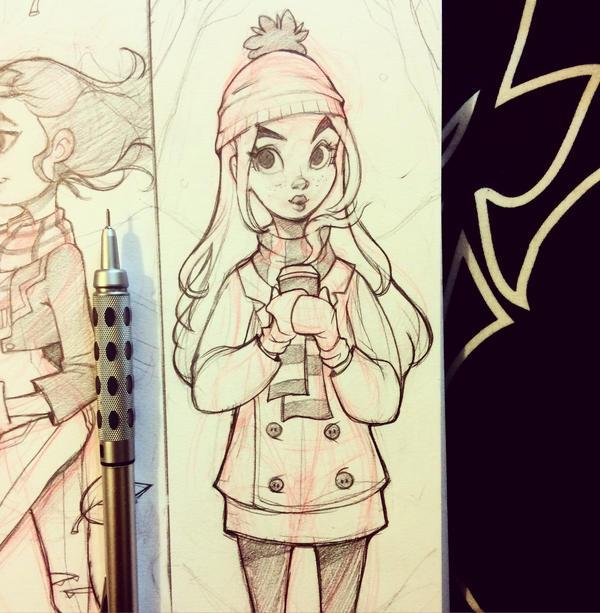 Sketchbook Girl by chrissie-zullo