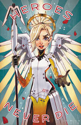 Mercy from Overwatch by ChrissieZullo