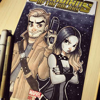 Star Lord and Gamora by ChrissieZullo