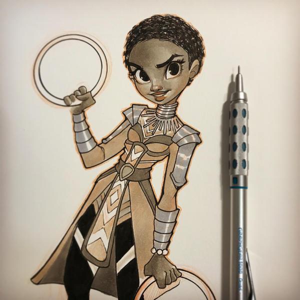 Nakia Black Panther by ChrissieZullo on DeviantArt