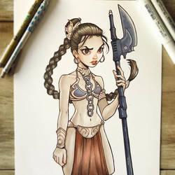 Slave Leia by ChrissieZullo