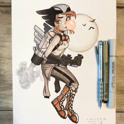 Bombshell Hawkgirl by ChrissieZullo