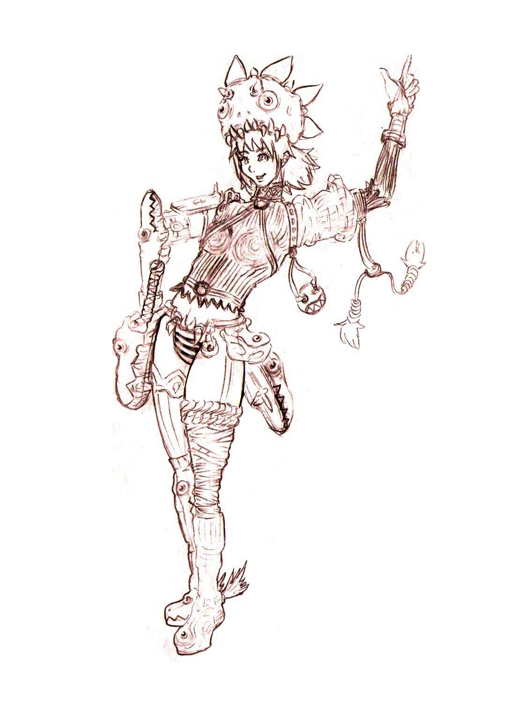 Sexy Steampunk Berserker Girl by erosenin23