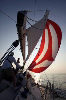 Flying an A-sail