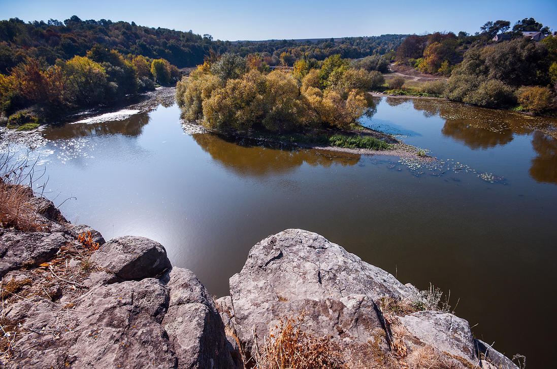 Cliff over Southern Bug River by third-one