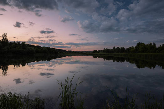 Serene Evening Pond