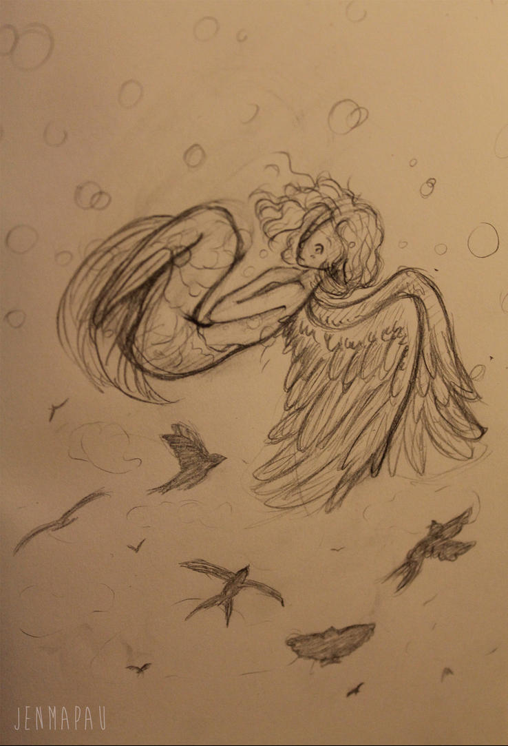 little mermaid feeling completely free. by JenMapauAnimations