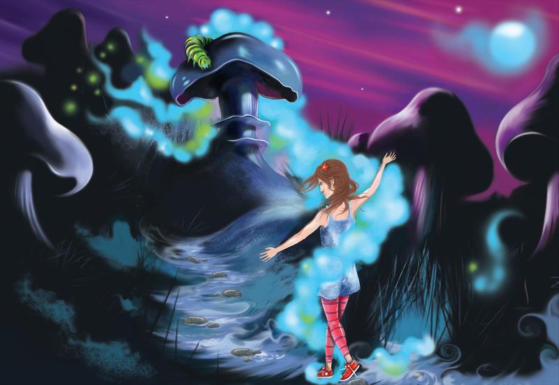 Alice in Wonderland by mjdawson23
