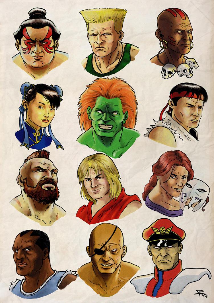 DeviantART : Street Fighter Tribute (sélection Fans-comics) - Page 2 Street_fighter_2_tribute_by_flaviogatti-d5d3eep