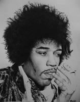 Jimi Hendrix by Dodos24