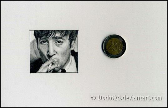 John Lennon Miniature by Dodos24