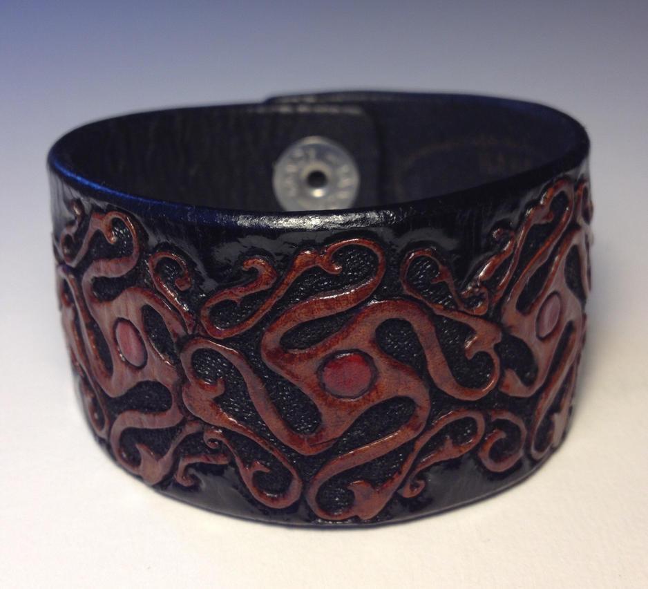 Wandering Gypsy Leather Cuff by AFlem