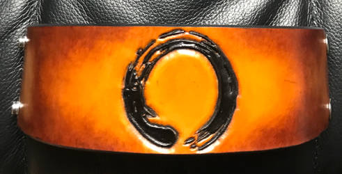 Zen Circle Leather Cuff