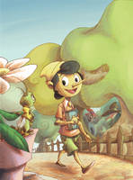 Pinocchio cover by Bakke