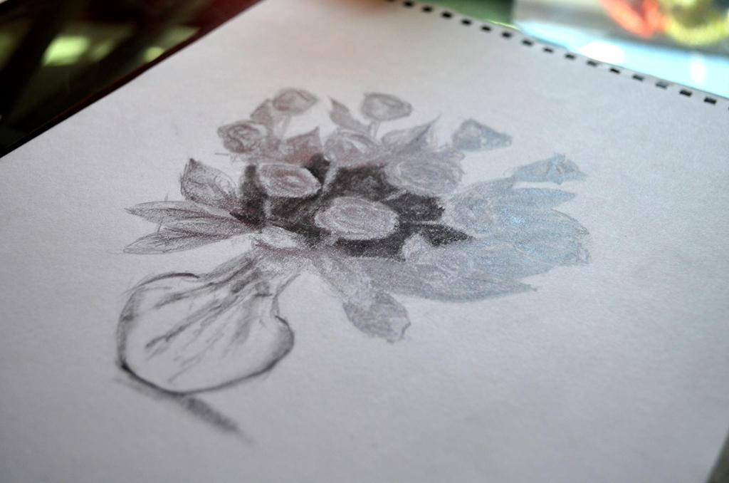 Flower Vase Pencil On Paper By 117design On Deviantart