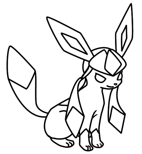 Glaceon coloring page by Bellatrixie-White on DeviantArt