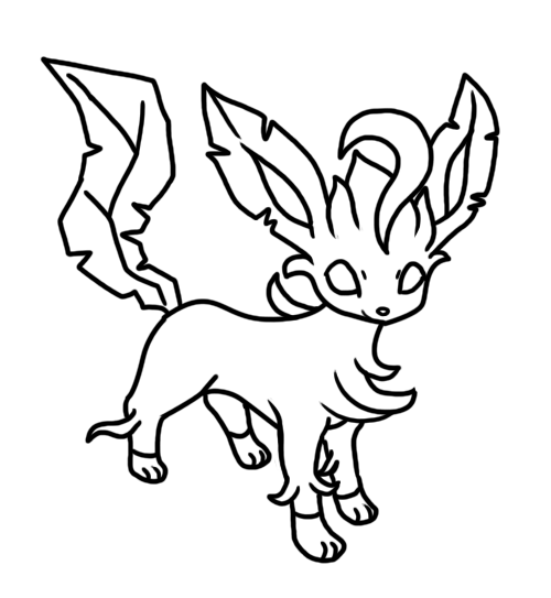 Leafeon coloring page by Bellatrixie-White on DeviantArt
