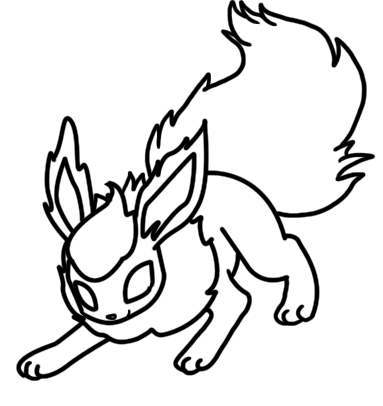Flareon coloring page by Bellatrixie-White on DeviantArt