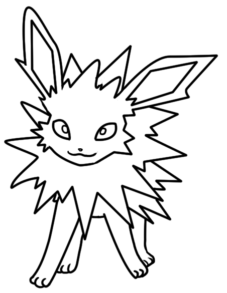 Jolteon coloring page by Bellatrixie-White on DeviantArt
