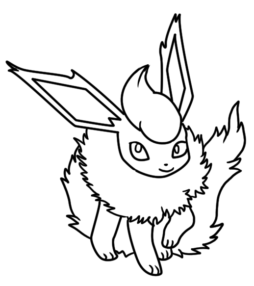 Flareon Coloring Page 2 By Bellatrixie White On Deviantart