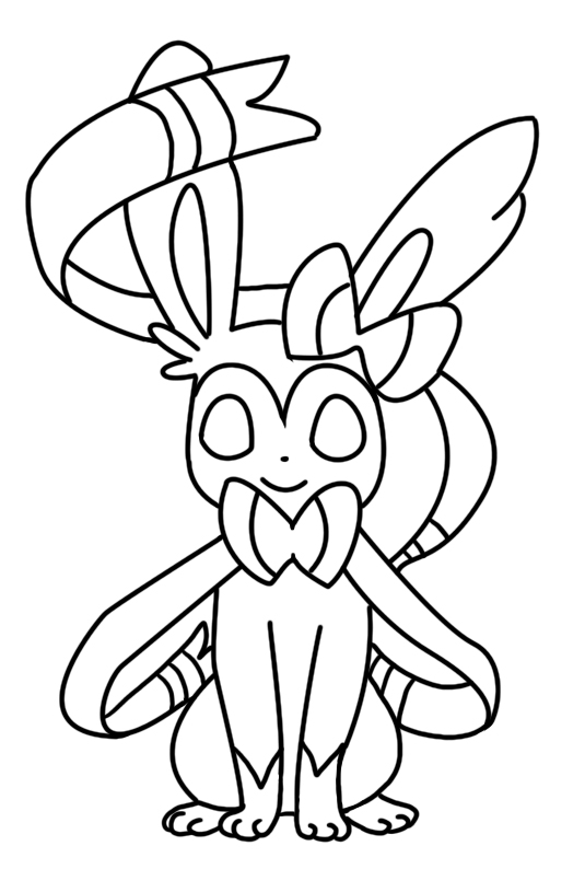 Sylveon Coloring Page By Bellatrixie White On Deviantart