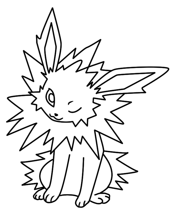 Jolteon coloring page 2 by Bellatrixie-White on DeviantArt