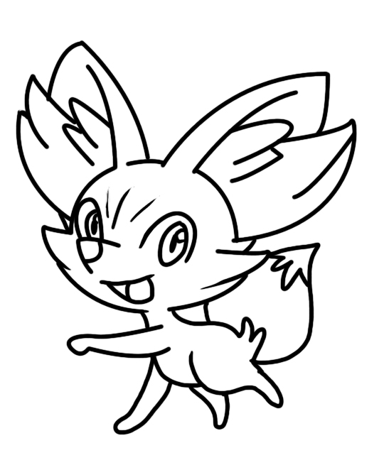 pokemon fennekin coloring pages sketch coloring page