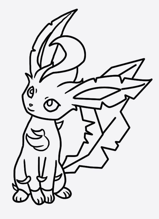 Leafeon coloring page 2 by Bellatrixie-White on DeviantArt