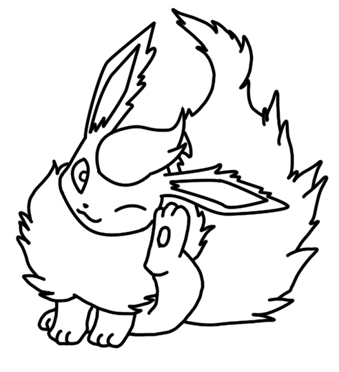Flareon Coloring Page 3 By Bellatrixie White On Deviantart