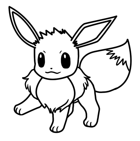 Eevee coloring page by Bellatrixie-White on DeviantArt