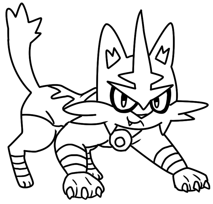 Torracat Coloring Page By Bellatrixie White On DeviantArt