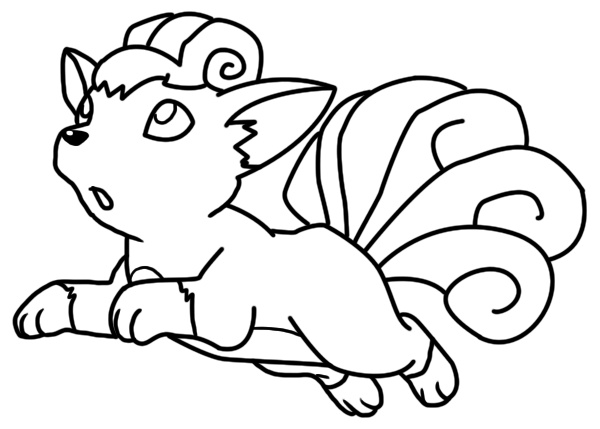 Vulpix coloring page by Bellatrixie-White on DeviantArt