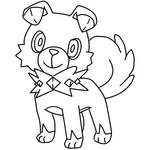 Rockruff Coloring Page By Bellatrixie White On Deviantart