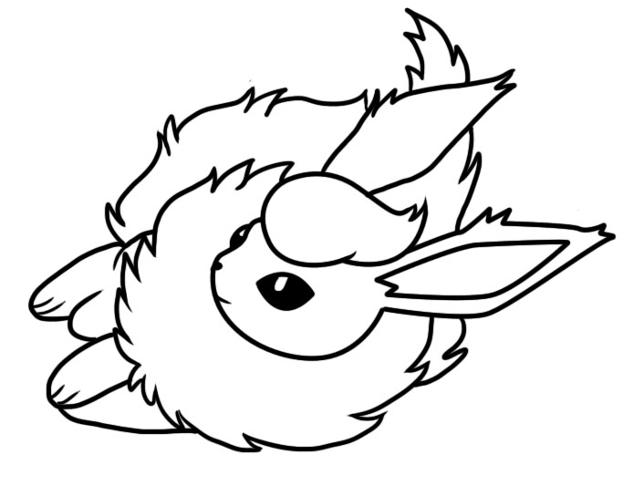 Flareon dream world coloring page by Bellatrixie-White on