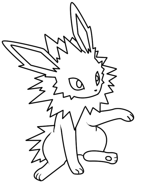 Jolteon dream world coloring page by Bellatrixie-White on