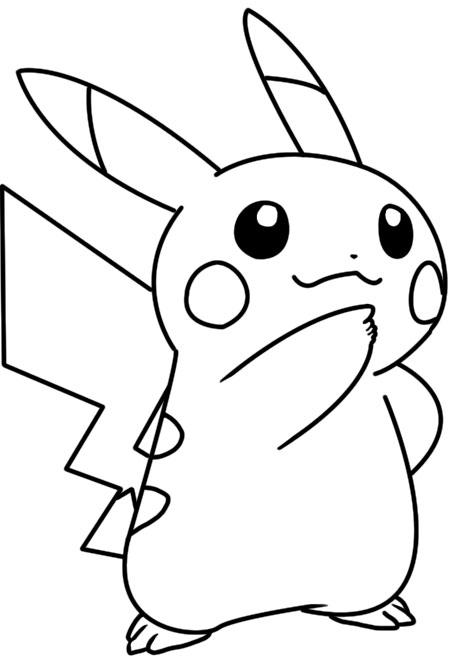 pikachu coloring page by bellatrixie white