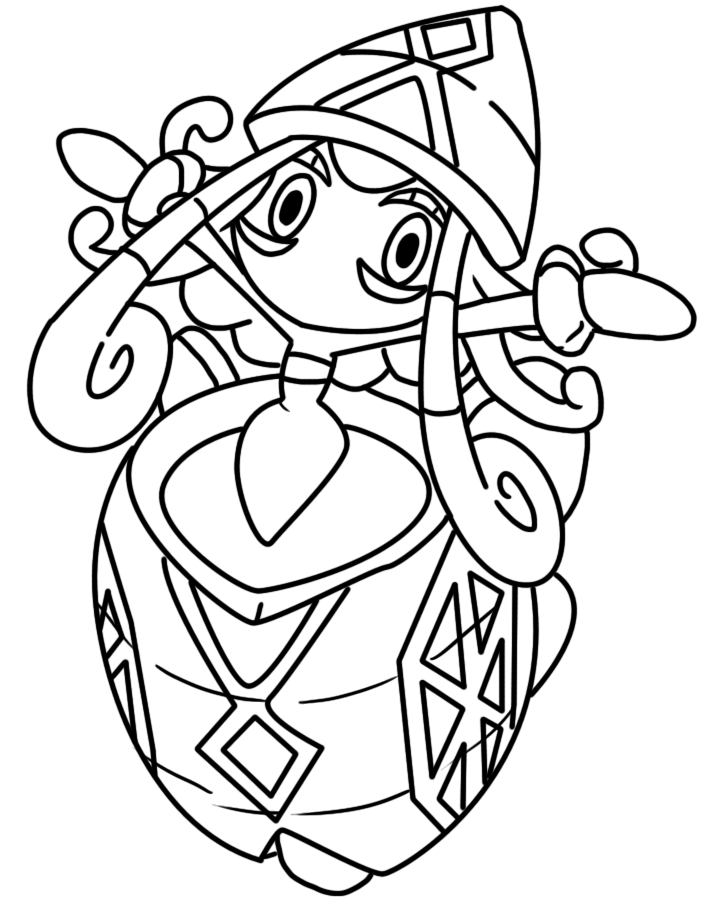 Tapu Lele coloring page by BellatrixieWhite on DeviantArt