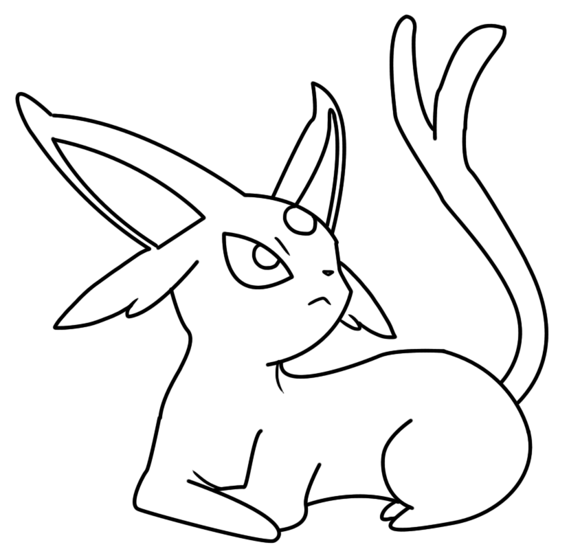 Espeon coloring page by Bellatrixie-White on DeviantArt