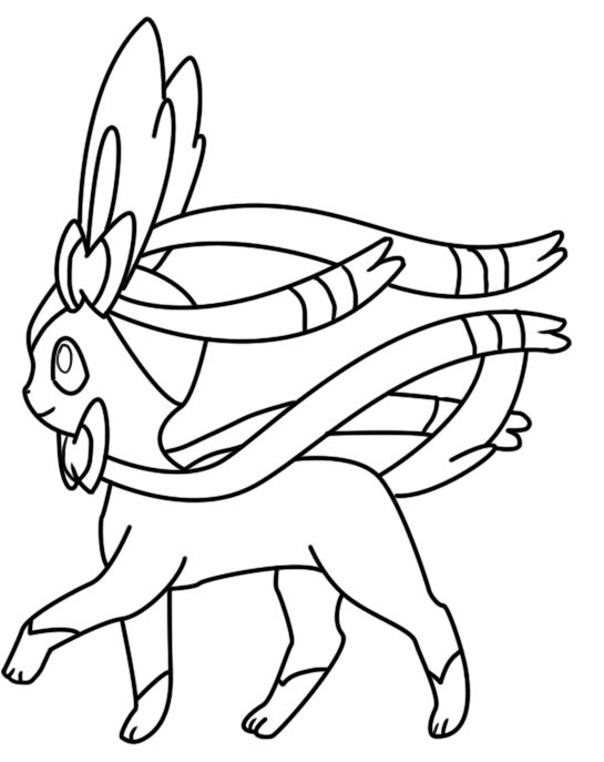 Sylveon Coloring Page 3 By Bellatrixie White On Deviantart