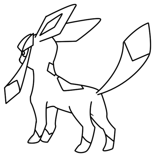 Get Glaceon Coloring Page