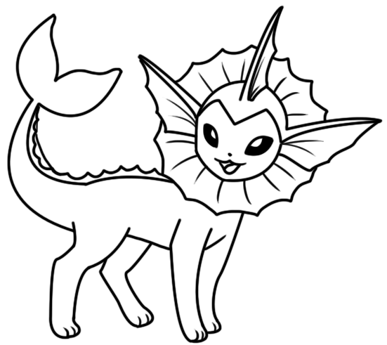 Vaporeon coloring page by bellatrixie white