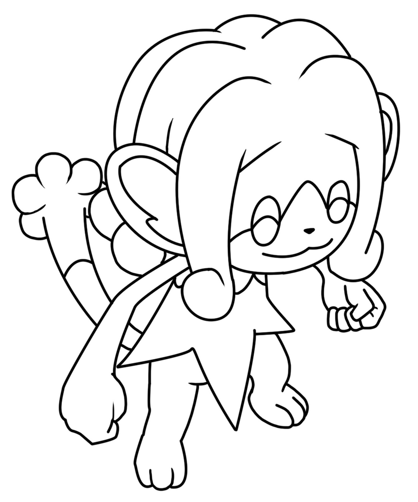 simipour coloring page by bellatrixie white on deviantart